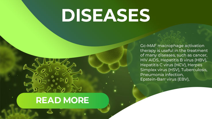 Diseases for GcMAF-Therapy